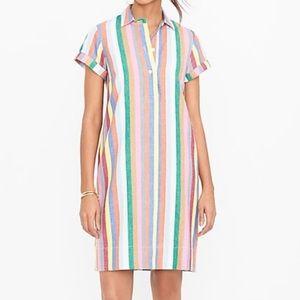 J Crew Factory linen striped dress